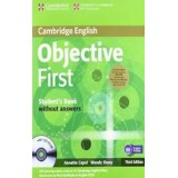 OBJECTIVE FIRST CERTIFICATE STUDENT'S (without answers)  & CDROM + CD AUDIO