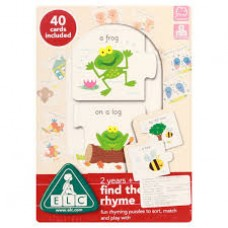 FIND THE RHYME puzzle to sort, match and play with
