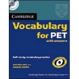 CAMBRIDGE VOCABULARY FOR PET (B1) WITH ANSWERS+CD