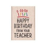 HAPPY BIRTHDAY FROM YOUR TEACHER STAMP